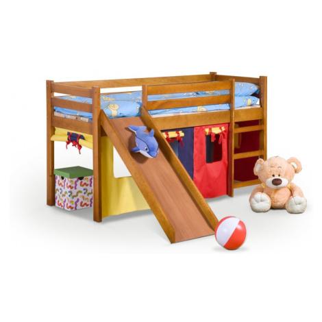 Dětská patrová postel se skluzavkou Neo Plus olše Halmar Olše