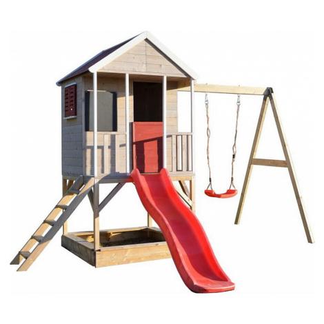 MARIMEX Domeček dětský dřevěný Veranda s houpačkou