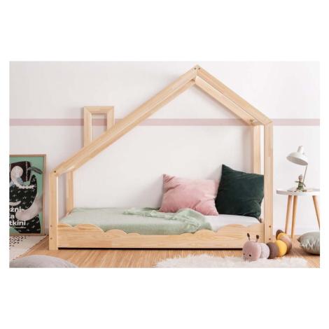 Domečková postel z borovicového dřeva Adeko Luna Drom, 80 x 140 cm