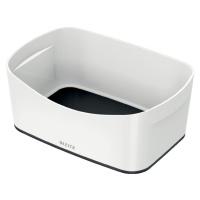 Bílo-černý stolní box Leitz MyBox, délka 24,5 cm
