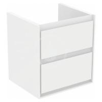 IDEAL STANDARD Connect Air Skříňka pod umyvadlo CUBE 550 mm, lesklý bílý/matný bílý lak E1607B2