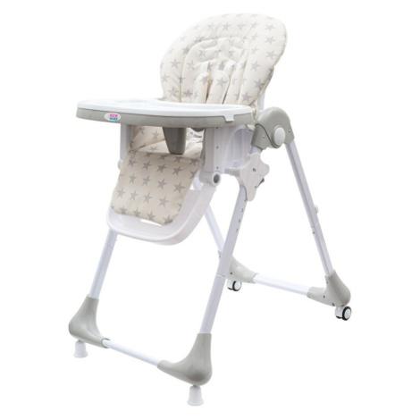New Baby Jídelní židlička Gray Star - ekokůže