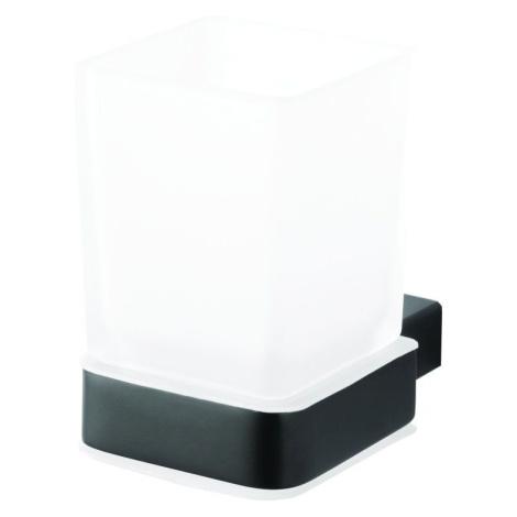 BEMETA NERO držák kartáčků sklo černá matná 135011010 135011010