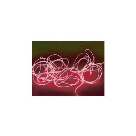 Elektroluminiscenční kabel, Ø 2 mm, 2 m, červená