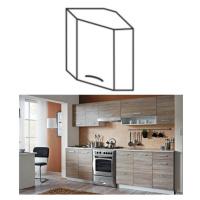 Kuchyňská linka dub sonoma / bílá CYRA NEW Rozměry: 88x88x84, Skříňka do kuchyně, dolní, Cyra NE