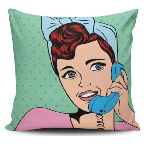 Polštář s příměsí bavlny Cushion Love Pop Art, 45 x 45 cm
