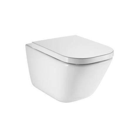ROCA Závěsná WC mísa RO GAP + záchodové prkénko FREDDY