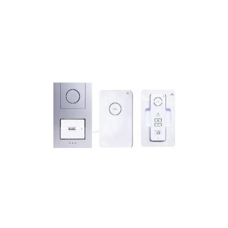 DECT , bezdrátový domovní telefon m-e modern-electronics AC-210 40941, bílá, stříbrná