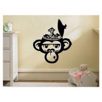 Samolepka na zeď Opička 002