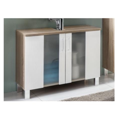 Koupelnová skříňka pod umyvadlo Porto, dub sonoma/bílá ASKO - NÁBYTEK