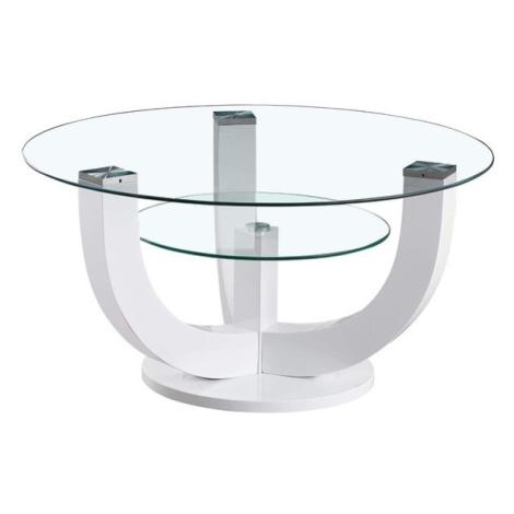 Sconto Konferenční stolek DENVER bílá, vysoký lesk