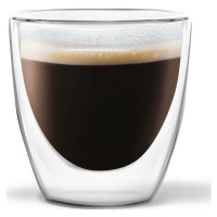 Sada 2 dvoustěnných sklenic Vialli Design Ronny Espresso, 80 ml
