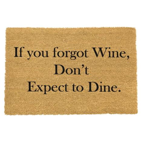 Rohožka z přírodního kokosového vlákna Artsy Doormats If You Forgot Wine, 40 x 60 cm
