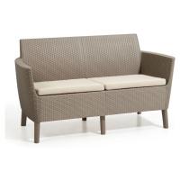 Allibert SALEMO 2 seater sofa - cappuccino