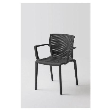Plastová Židle S Područkami Spiker Černá - Sada 4ks Möbelix