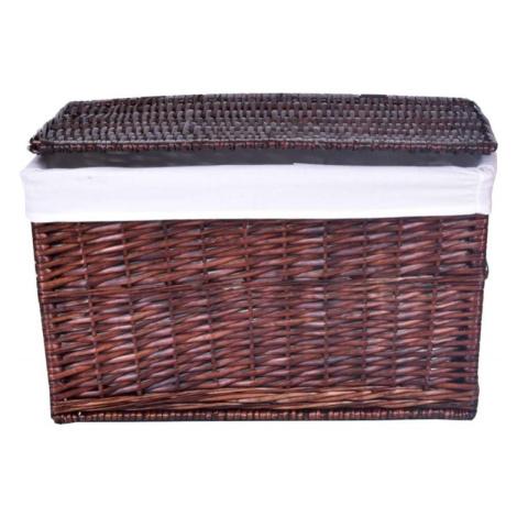 TZB Proutěný koš na prádlo - hnědý 105 L