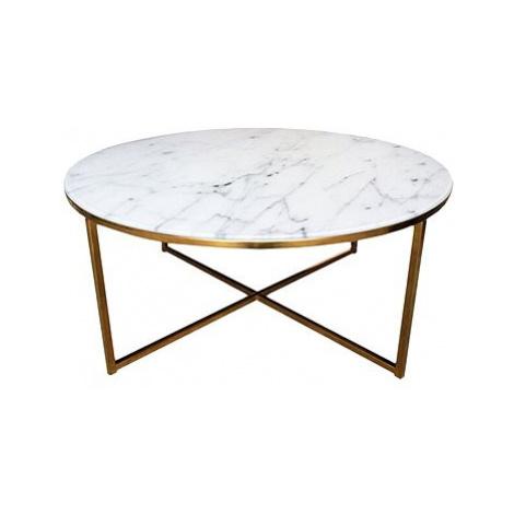 Konferenční stolek kulatý Alma, 80 cm, zlatá Design Scandinavia