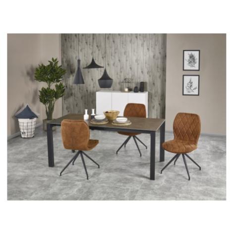 Jídelní stůl jídelní stůl horizon - rozkládací (kouřově šedá/černá) Halmar