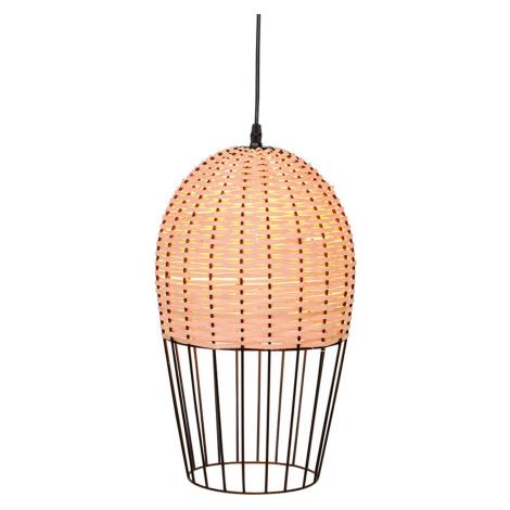 Viokef Závěsné světlo Dizzi ze dřeva a kovu