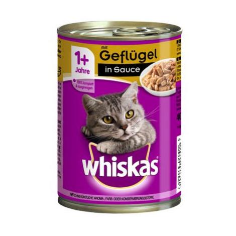 Whiskas 1+ konzerva 12 x 400 g - 1+ losos v želé