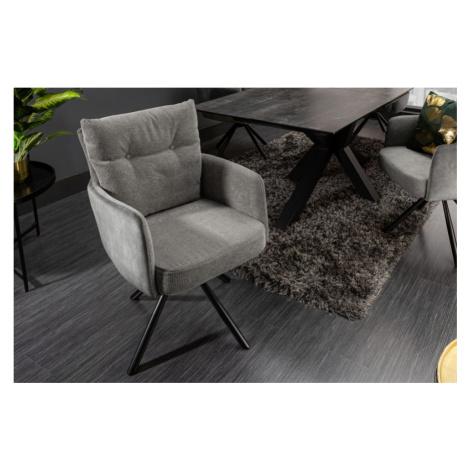 LuxD Designová otočná židle Maddison šedá