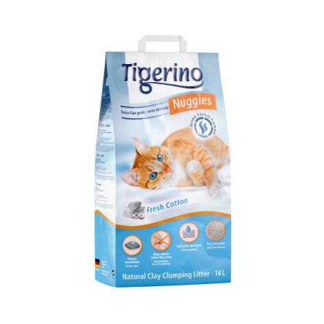 Kočkolit Tigerino Nuggies - Fresh Cotton - Dvojbalení 2 x 14 l