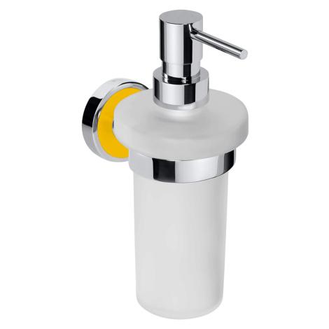 Dávkovač mýdla Bemeta TREND-I chrom, žlutá 104109018H
