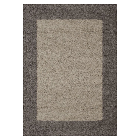Chlupatý kusový koberec Life Shaggy 1503 taupe Typ: 80x250 cm Ayyildiz