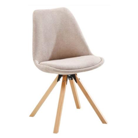 Židle, béžová/buk, SABRA Tempo Kondela