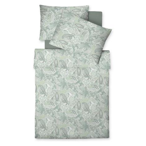 Fleuresse POVLEČENÍ, makosatén, šedá, zelená, bílá, 140/200 cm