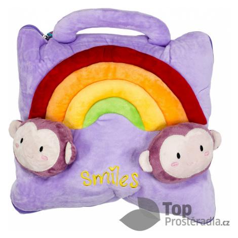 TOP Dětská deka z mikrovlákna 100x160 Smiles fialová DecoKing