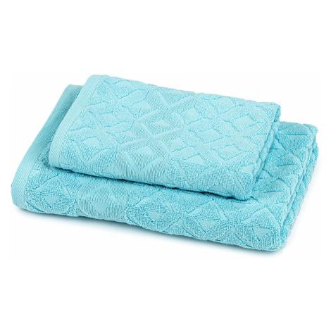 Trade Concept Sada Rio ručník a osuška světle modrá, 50 x 100 cm, 70 x 140 cm
