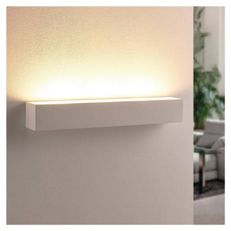 Lindby Bílá sádrová nástěnná LED lampa Santino, hranatá