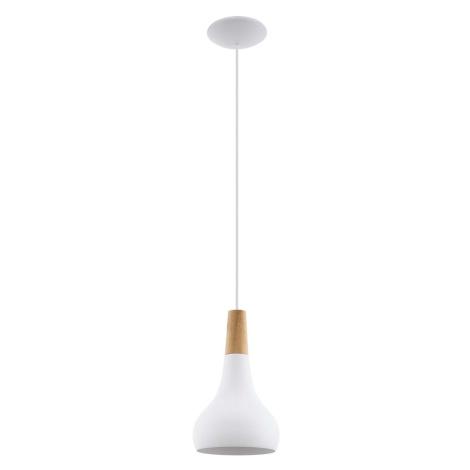 Osvětlení Eglo Sabinar 18x110 cm kov bílá, dřevo 96981
