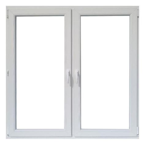 Okno dvoukřídlé 146,5x143,5cm bílá BAUMAX