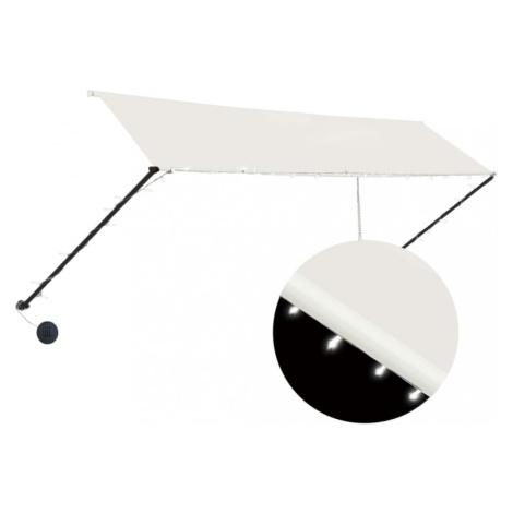 Zatahovací markýza s LED světlem 350x150 cm Dekorhome Hnědá / oranžová vidaXL