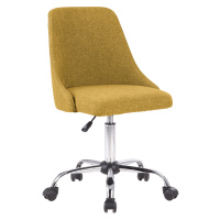 Kancelářská židle, žlutá/chrom, EDIZ