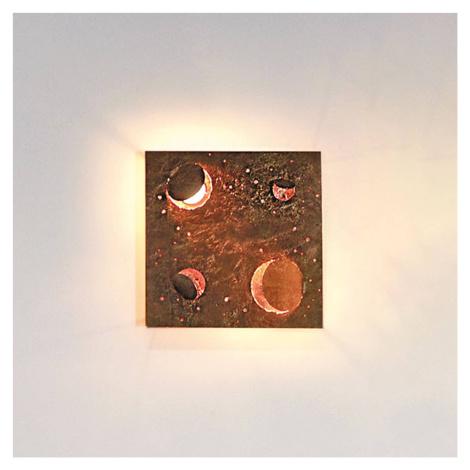 Knikerboker Knikerboker Buchi nástěnné světlo 32x32cm měď list