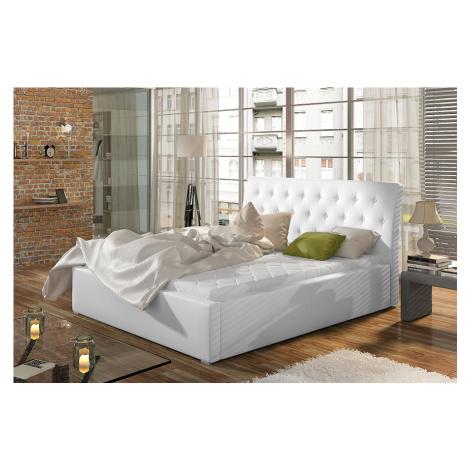 Čalouněná postel 180x200 Mia s úložným prostorem