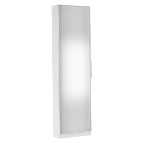 Botník, šestiřadový, bílá/zrcadlo, KAPATER 305397 Tempo Kondela