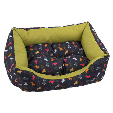 Sofa Dog Fantasy origami 75cm černo-zelená