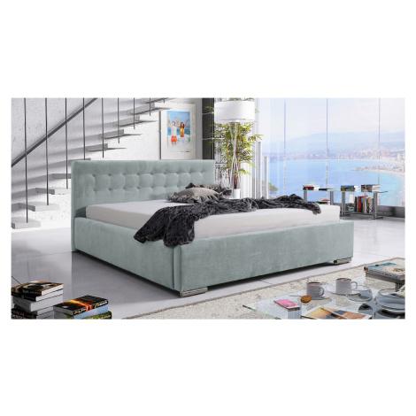 Eka Čalouněná postel Anastasia 90x200 cm Barva látky Trinity: (2321) Světlá zelená