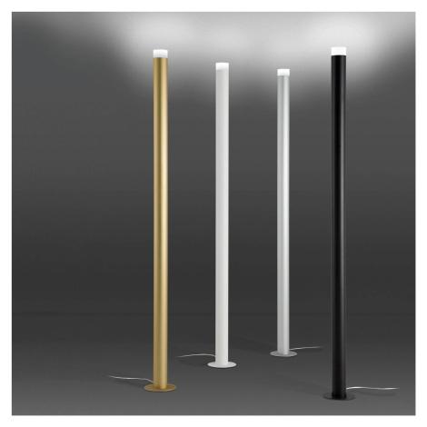ALMA LIGHT BARCELONA Stojací lampa LED Pole, stříbro elox