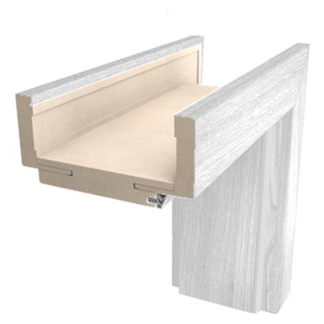 Obložková zárubeň Naturel 70 cm pro tloušťku stěny 7,5-9,5 cm borovice bílá pravá O1BB70P