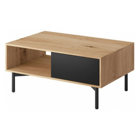 Konferenční stolek FAY, dub artisan/černá