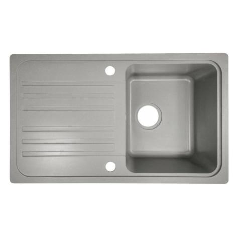 Aquamarin 74247 Granitový dřez s odkapávačem, šedý
