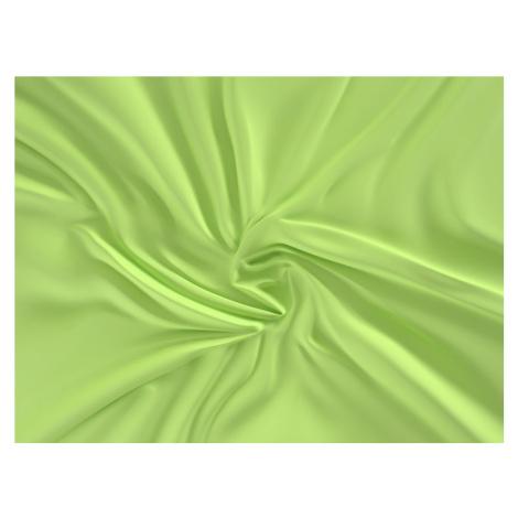 Saténové prostěradlo (220 x 200 cm) - olivové
