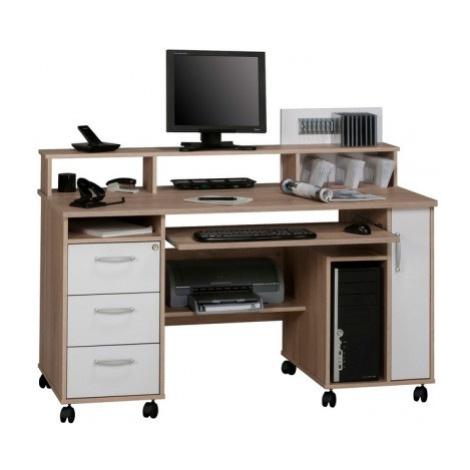 Psací stůl Model 9475, dub sonoma/bílý