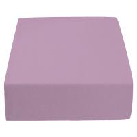 Jersey prostěradlo světle fialové 140 x 200 cm