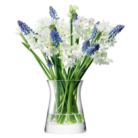 Flower Garden Posy skleněná váza v.13cm čirá, LSA, Handmade LSA International
